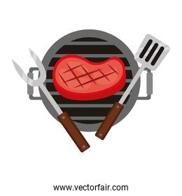 grill barbecue steak fork and spatula