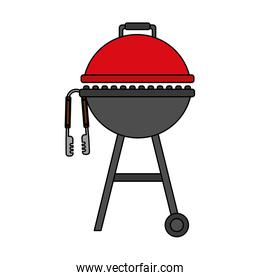 barbecue grill and tongs equipment
