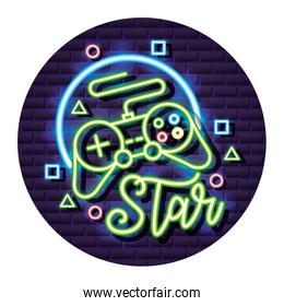 neon video game