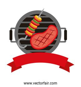 barbecue grill meat and kebab banner