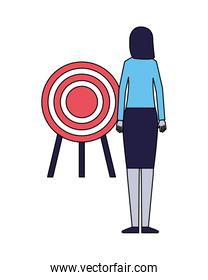 business woman with target strategy