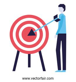 businessman with target strategy