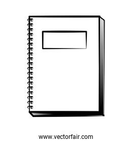 notebook doodle on white background