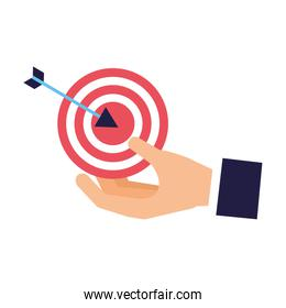 hand holding target strategy business