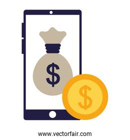 business smartphone bag money coin