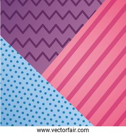 geometric line dots zig zag decoration pattern