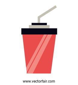 red paper cup soda with straw