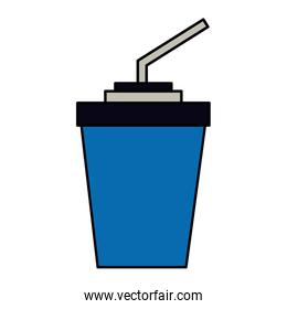 paper cup soda with straw