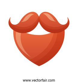 red beard and mustache