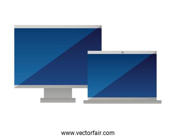 computer monitor laptop device