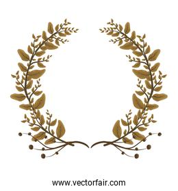 wreath leaves foliage floral crown