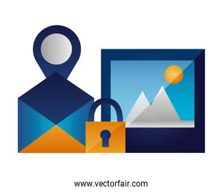 email picture navigation pin security