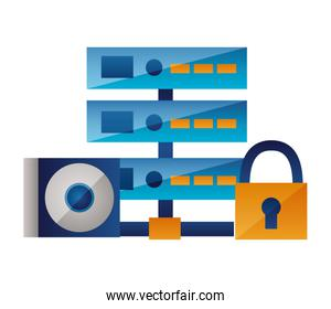 database center commpact disk security