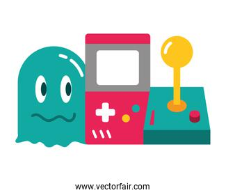 ghost console and joystick video game