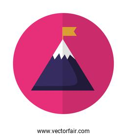business mountain flag startup