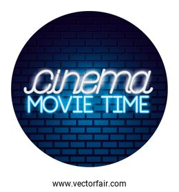 cinema movie time neon