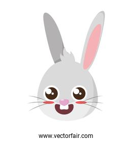 beautiful rabbit easter head character