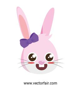 beautiful rabbit female easter character