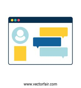 webpage template isolated icon