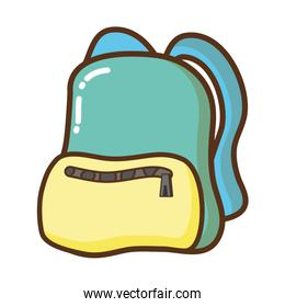travel backpack green and yellow  icon