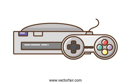 videogame console isolated illustration