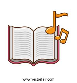 open book with musical notes icon