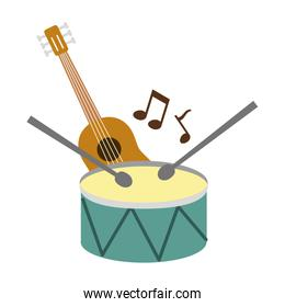 musical instruments isolated icon