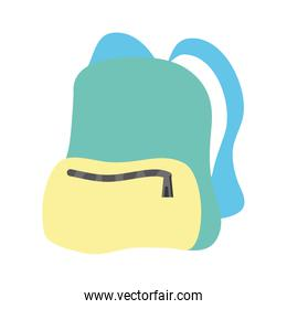 travel backpack isolated icon