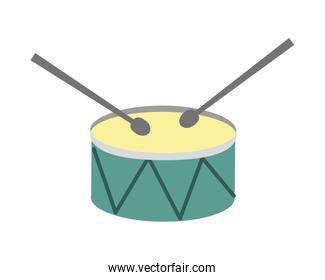drum and drumsticks isolated icon