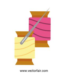 materials for sewing isolated icon