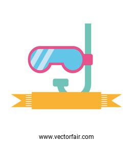 cute snorkel isolated icon