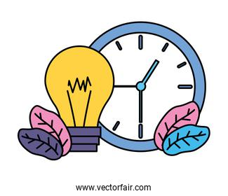 clock time and bulb