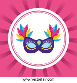 mask with feather carnival