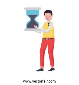 businessman with hourglass