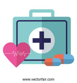 medical suitcase heartbeat pills
