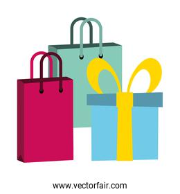 shopping bags and gift
