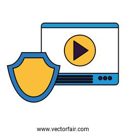 website content shield protection