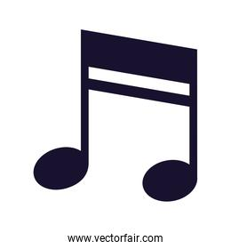 musical note melody on white background