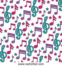 musical notes background festival music
