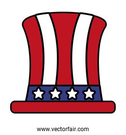 top hat with american flag