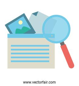 website picture magnifier white background