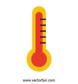 thermometer temperature on white background