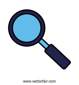 magnifying glass searching on white background