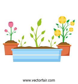tools decoration gardening flat design