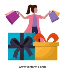people shopping bag commerce concept