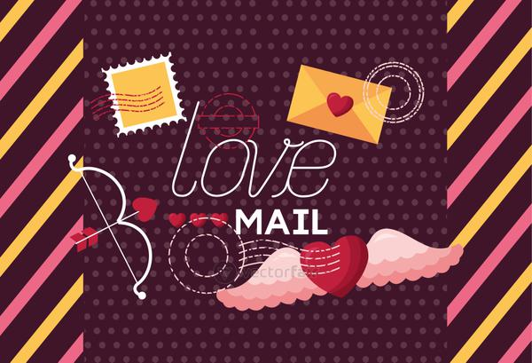Love represented by card vector design