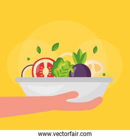 Healthy and organic food vector design