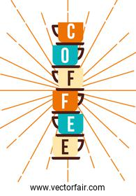 Coffee cups vector design