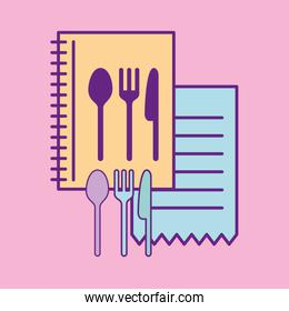 Cutlery and menu vector design