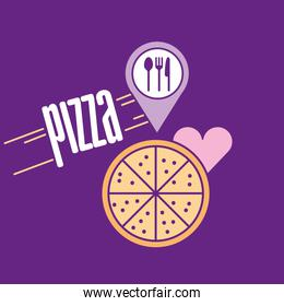 Fast food and pizza design